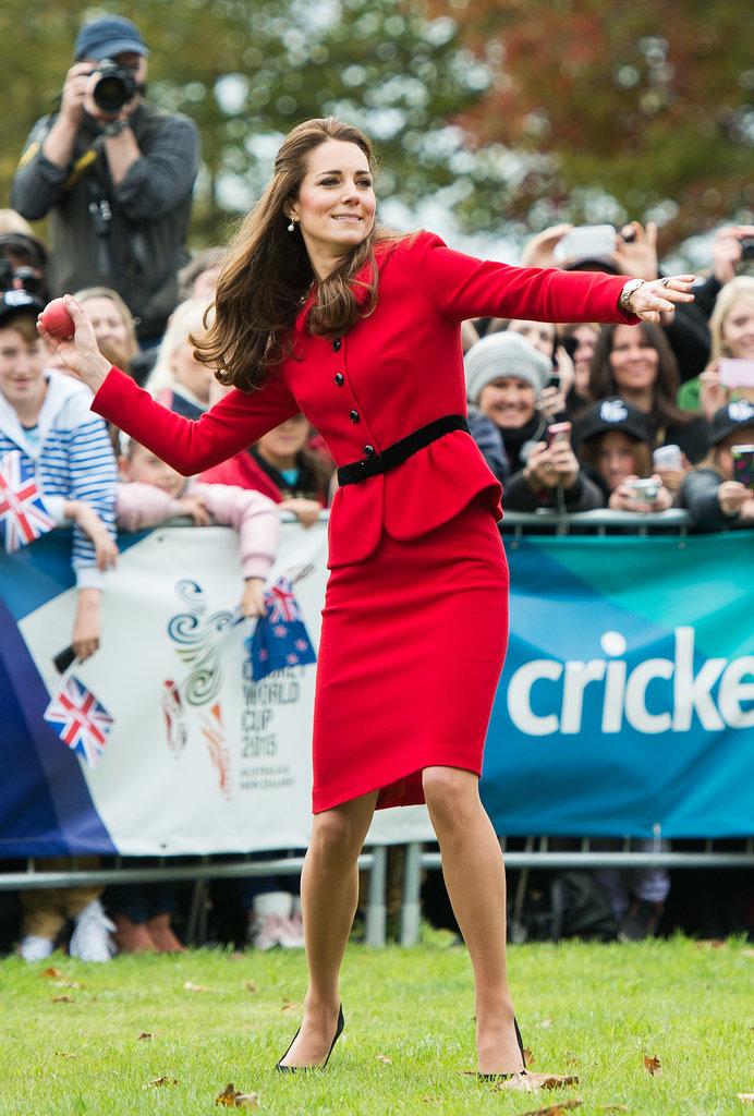 Kate Middleton Throwing the Ball