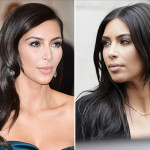 kim Kardashian Haircuts Before N After