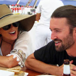 Brandon Jenner and Kim Kardashian