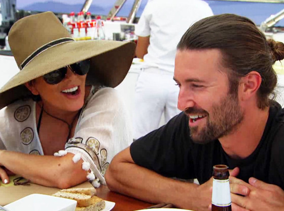 Brandon Jenner and Kim Kardashian