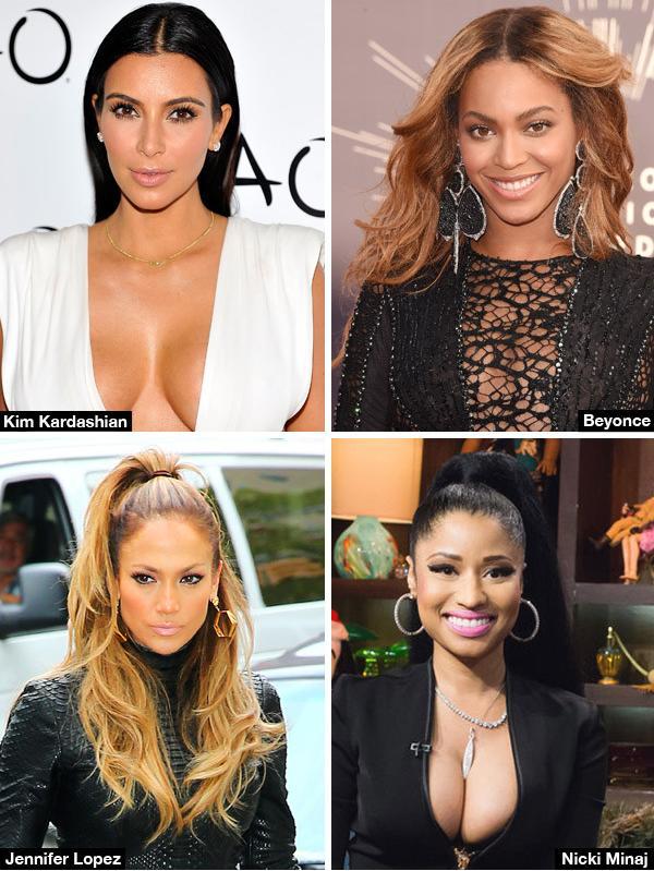 Jennifer Lopez, Kim Kardashian, Beyonce's & Nicki Minaj