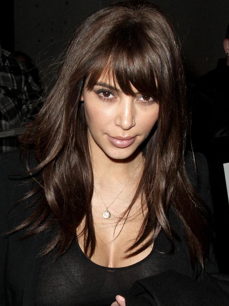 Kim Kardashian Bangs