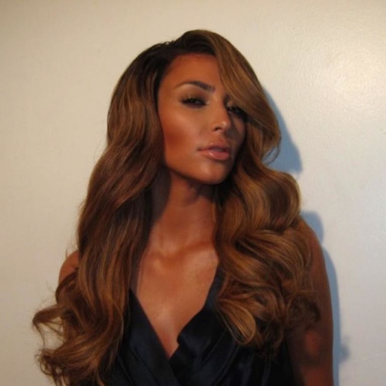 Kim Kardashian Honey Hued Wig Style