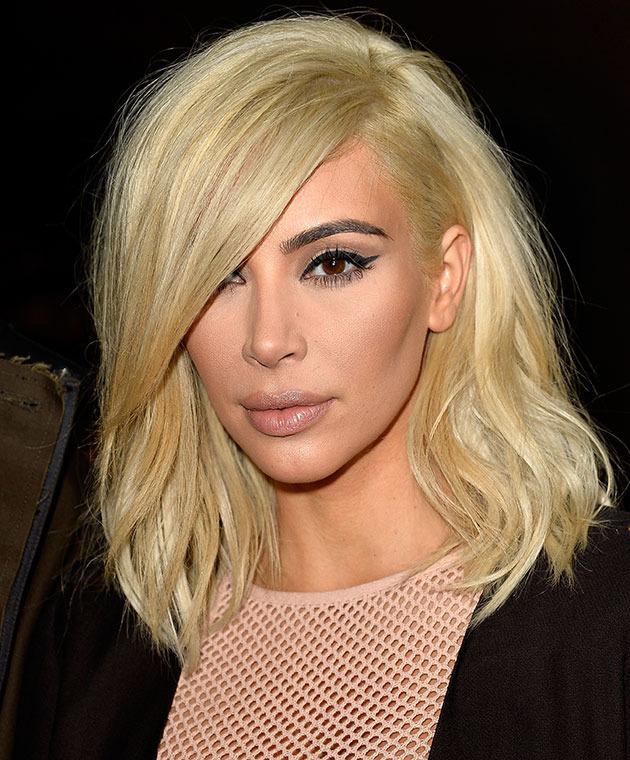 Kim Kardashian Platinum Lob