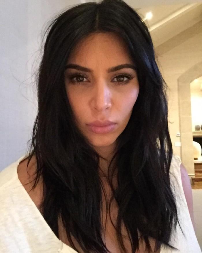 Kim Kardashian Unwashed